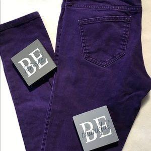 Bright Purple City Street Jeans